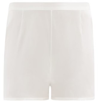 La Perla Silk Satin Pyjama Shorts - Womens - Ivory