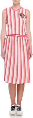 Love Moschino Stripe Knit Maxi Dress
