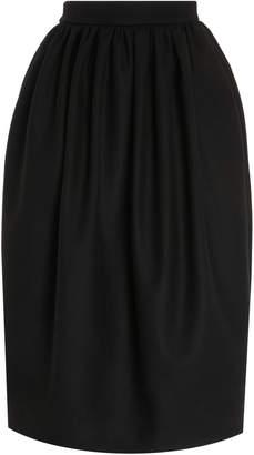 Rochas Felted Wool-Blend Midi Tulip Skirt Size: 40