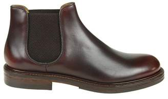Doucal's Leather Boots And Color Bordeaux