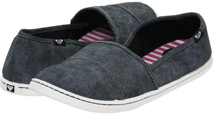 Roxy Pier '12 (Black Twill) - Footwear