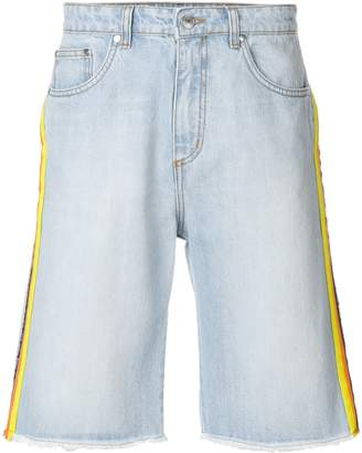 MSGM side stripe denim shorts