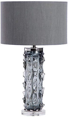 Interlude Zion Crystal Table Lamp - Smoke Gray