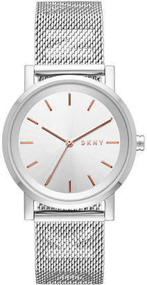 DKNY Women's SoHo Stainless Steel Mesh Bracelet Watch 34mm, Created for Macy's