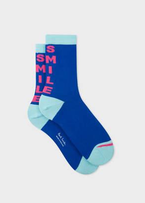 Paul Smith Women's Blue 'Smile' Socks