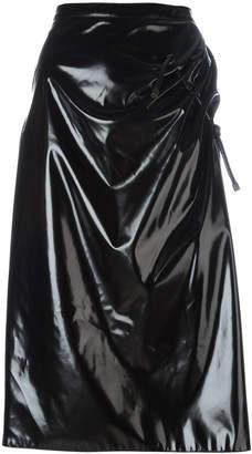 Kenzo ruched vinyl skirt