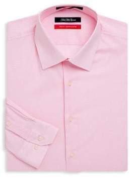 Saks Fifth Avenue Trim-Fit Geometric Dress Shirt