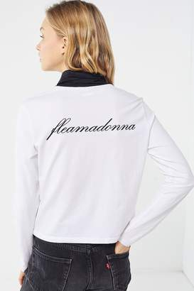 Fila X Fleamadonna UO Exclusive Maeve Contrast Turtleneck Top