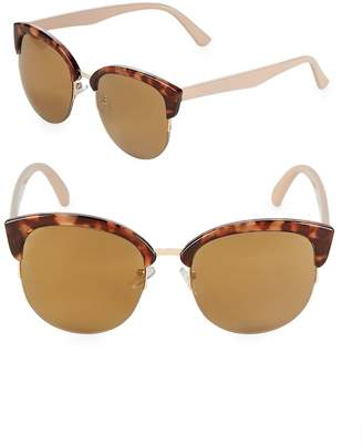 Fantas-Eyes FANTAS EYES Women's Mirrored 52MM Clubmaster Sunglasses