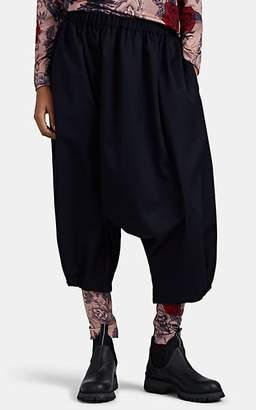 Comme des Garcons Women's Drop-Rise Wool Crop Pants - Navy