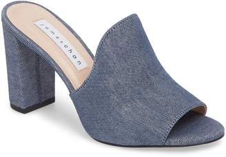 JAMES CHAN Aimee Block Heel Mule
