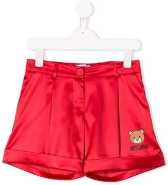 Moschino Kids logo patch tailored shorts