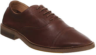 Ask the Missus Lazy Oxford Shoes Tan Leather