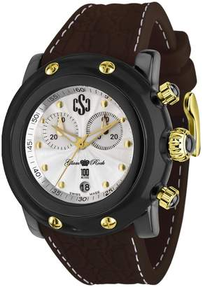 Glam Rock Miami Beach GR2515 46mm Plastic Case Brown Silicone Mineral Men's Watch