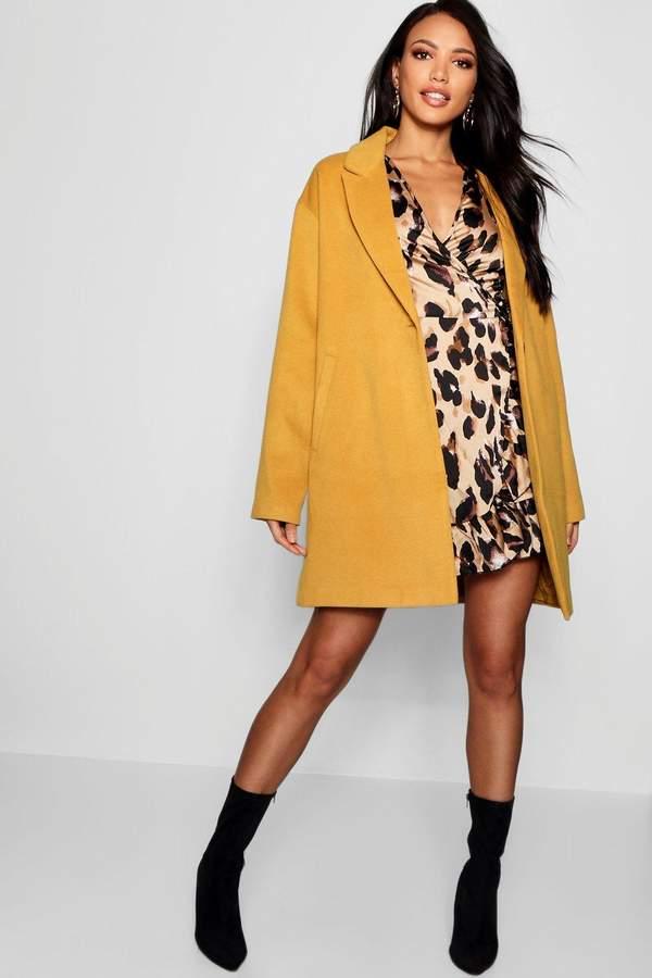 Button Wool Look Coat