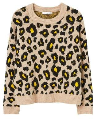 MANGO Leopard print sweater
