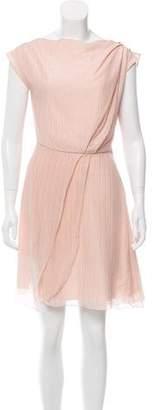 Genny Metallic Knee-Length Dress w/ Tags
