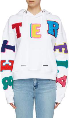 Mira Mikati 'Better Fly' chenille patch hoodie