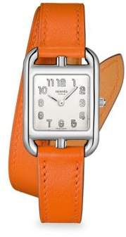 HERMÃS HERMÃS Cape Cod Stainless Steel& Leather Strap Watch - Orange