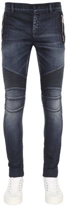 17.5cm Biker Stretch Denim Jeans $1,035 thestylecure.com