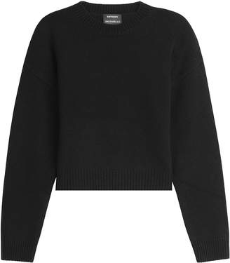 Anthony Vaccarello Cropped Wool Pullover