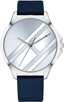 Tommy Hilfiger Women Navy Leather Strap Watch 38mm