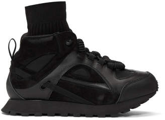 Maison Margiela Black Security Runner High-Top Sneakers