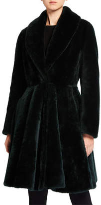 Alaia Shearling Knee-Length A-Line Skirt