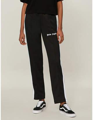 Palm Angels Side-stripe jersey jogging bottoms