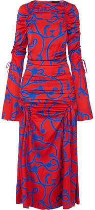 Ellery Rocket Woman Printed Stretch-silk Gown - Red