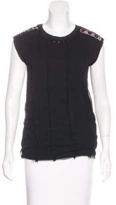 Lanvin Embellished Sleeveless Top
