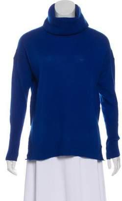 Diane von Furstenberg Rib-Knit Trim Cashmere Sweater