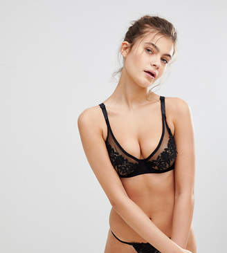 Wolfwhistle Wolf & Whistle Floral Mesh B-G Cup Bra
