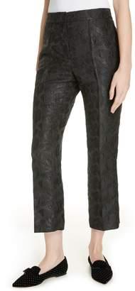 Kate Spade Metallic Tonal Jacquard Flare Pants