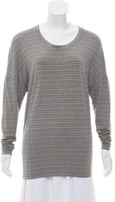 Norma Kamali Striped Long Sleeve Top