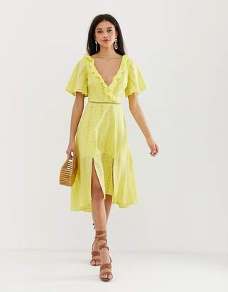 Finders Keepers Sundays broderie midi dress