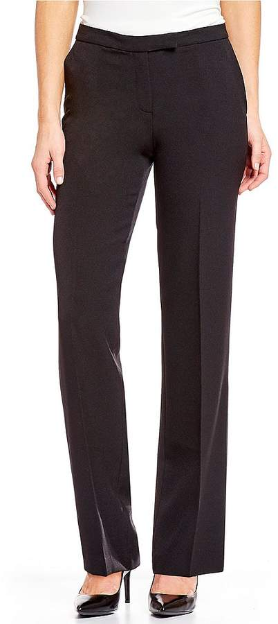Kasper Stretch Crepe Straight-Leg Pants