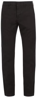 Dunhill Straight Leg Cotton Chino Trousers - Mens - Black