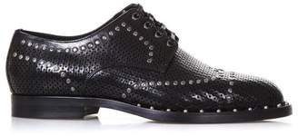 Dolce & Gabbana Dolce \u0026 Gabbana Perforated Black Leather Derby Shoes With Studs