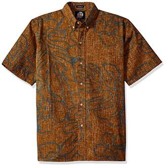 Reyn Spooner Men's Monstera Ink Spooner Kloth Classic Fit Hawaiian Shirt
