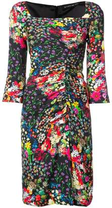Etro floral ruched dress