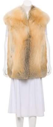 Derek Lam Collarless Fur Vest Beige Collarless Fur Vest