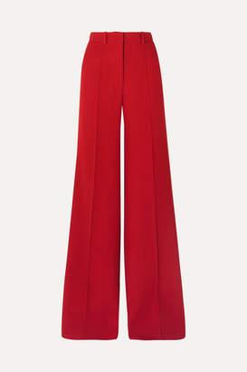 Victoria Beckham Wool Wide-leg Pants - Red