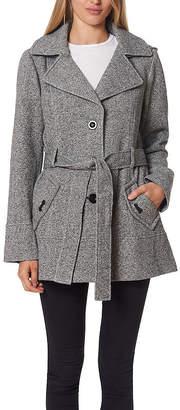 Liz Claiborne Fleece Hooded Belted Lightweight Jacket