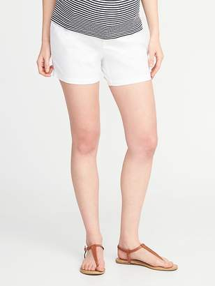 """Old Navy Maternity Relaxed Side-Panel Twill Shorts (5"""")"""