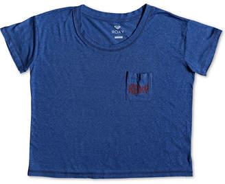 Roxy Juniors' Graphic-Print Cropped T-Shirt