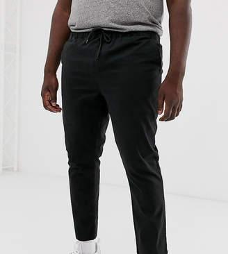 Asos Design DESIGN Plus slim chinos with elastic waist in black