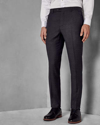 Ted Baker SAFRANT Geo skinny fit wool trousers