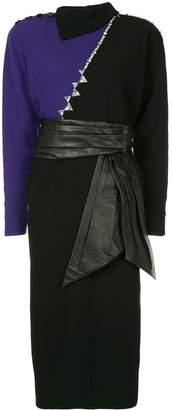 Marc Jacobs leather trim dress
