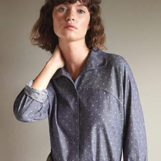 Comptoir des Cotonniers ブラッシュコットンドットプリントシャツ